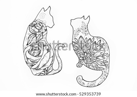 Cat Drawing Stock Images, Royalty-Free Images & Vectors   Shutterstock