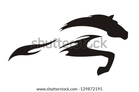 sketch horse on white background