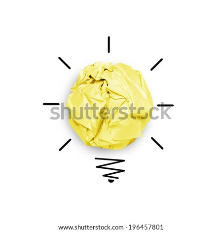 Sketch of idea concept with paper notes - stock photo