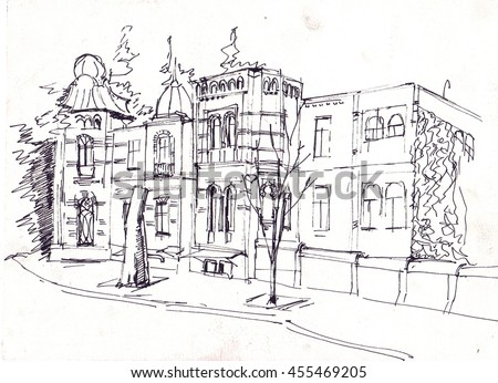 Sketch of the modern buildings