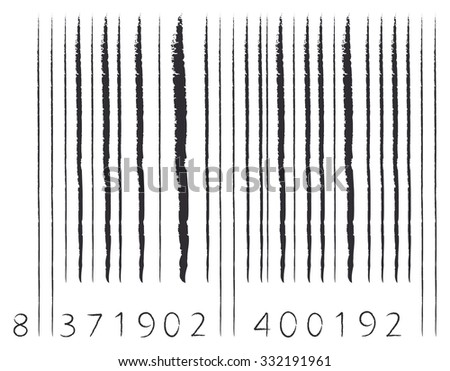 sketch paint barcode - stock photo