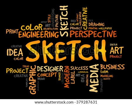 SKETCH word cloud concept