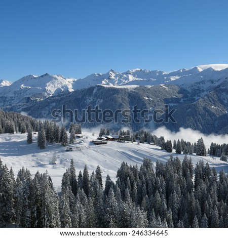 Ski area Braunwald - stock photo