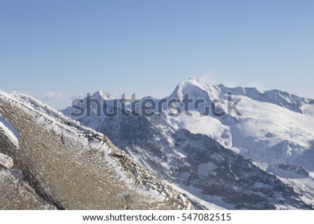 Ski Austria, glacier. Winter sports theme.