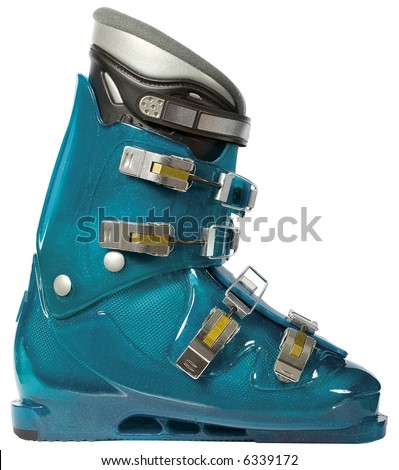 Ski boot for the skis - stock photo