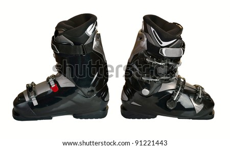 Ski boots isolated on the white