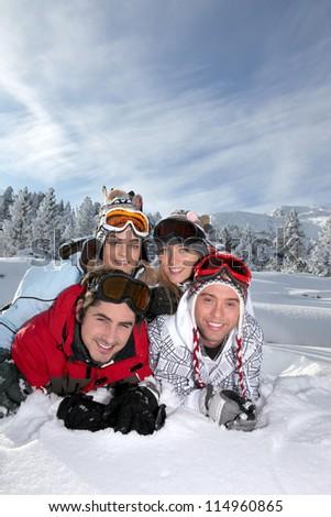 Ski buddies - stock photo