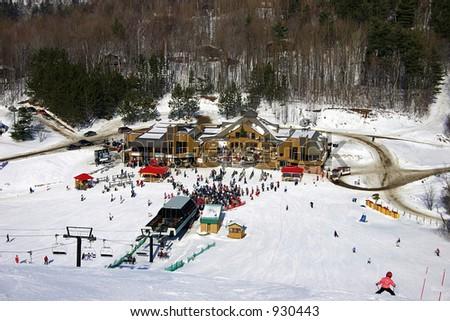 Ski Center Main Area - stock photo