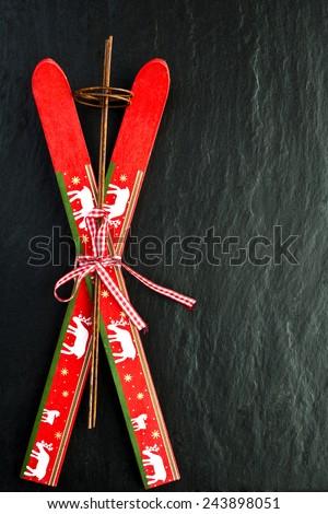 ski christmas new year decor - stock photo