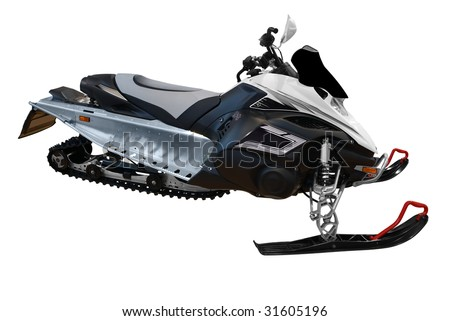 ski-doo snowmobile isolated