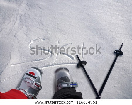 ski gear - stock photo