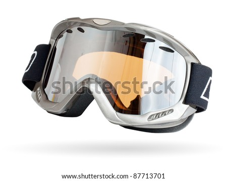 Ski glass isolated on a white - stock photo
