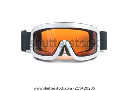 ski glasses isolated on white - stock photo