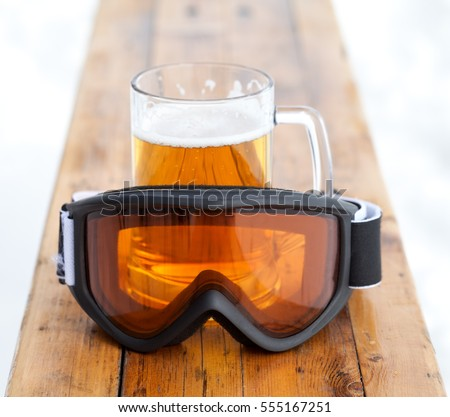 ski bench beer bench stock images royalty free images vectors shutterstock
