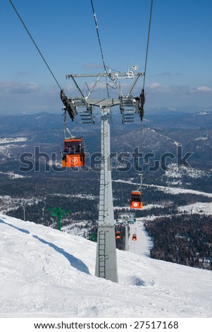 Ski lift to top of the mountain