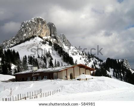 Ski Lodge in Germany - stock photo