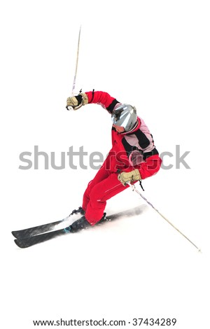 ski mountaineering freestyle alpinist isolated