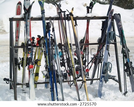 ski on a break - stock photo