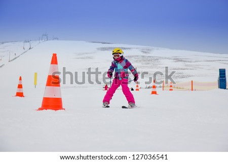 Ski race - stock photo