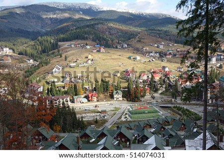 ski resort Bukovel in late autumn
