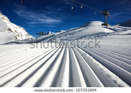 ski resort kaprun - stock photo