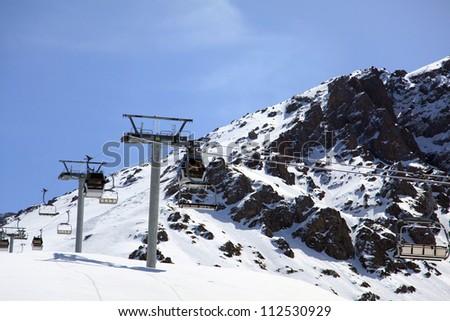 ski resort/mountains - stock photo