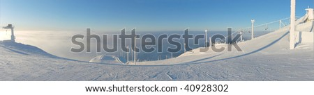Ski Resort, Ruka Finland - stock photo