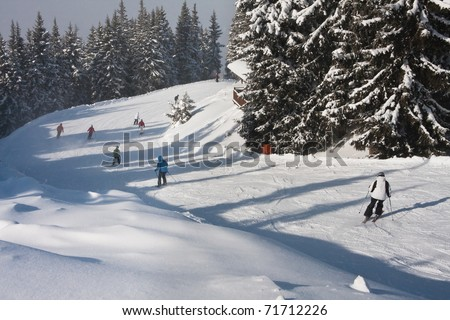 Ski resort  Schladming . Austria - stock photo