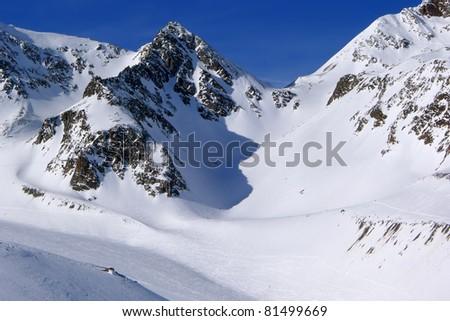 Ski resort Stubai in Tirol, Austria - stock photo