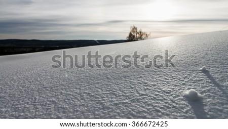 Ski resort Sun valley Russia, the Ural, the Miass. - stock photo