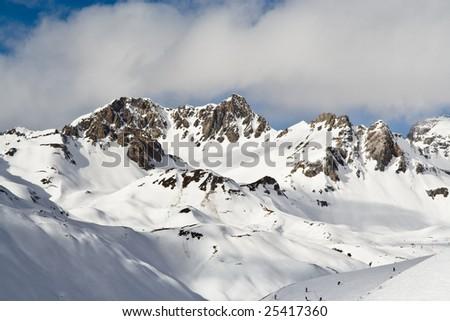 Ski resort Tignes. France - stock photo