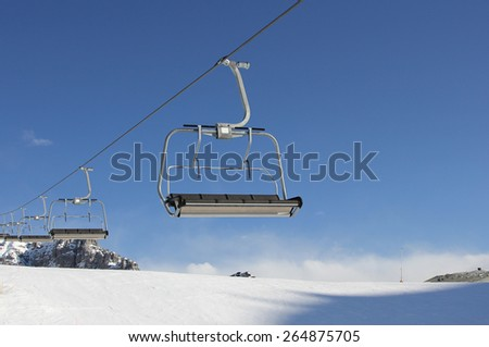 Ski resort, winter theme.