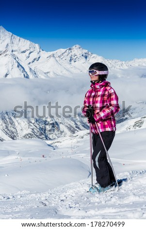 Ski, skier woman, winter sport