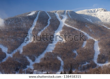 Ski trails at Mt. Mansfield, Stowe Mountain Resort, Stowe, Vermont
