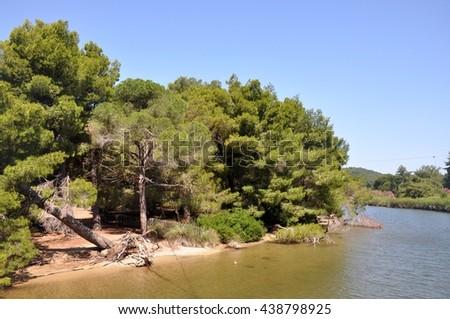 Skiathos landscape - stock photo