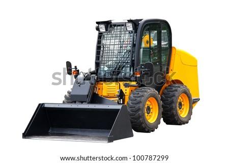 Skid steer loader - stock photo