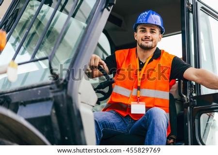 Skid Steer Loader driver - stock photo