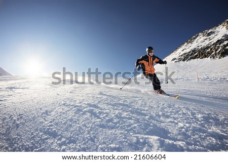 Skier - stock photo