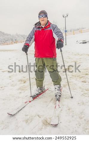 Skier - stock photo