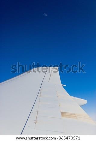 Skies above and below Ocean of Clouds  - stock photo