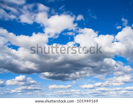 Skies Above Blue Heavens Peaceful Heaven - stock photo