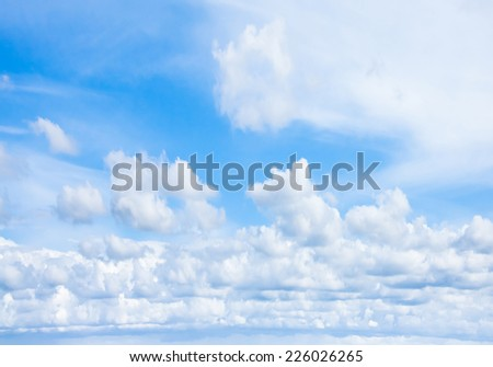 Skies Above Sunshine Happiness Blue Heavens  - stock photo