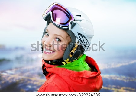 Skiing. - stock photo