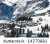 Skiing area near Amden (St. Gallen, Switzerland) - stock photo