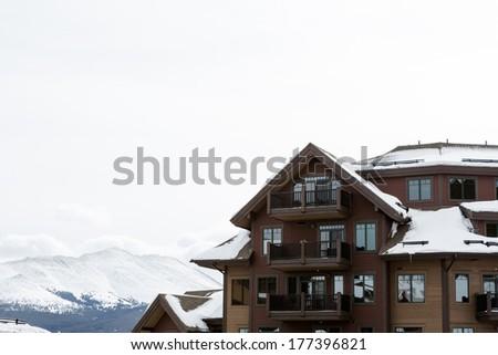 Skiing lodge in Breckenridge, Colorado. - stock photo