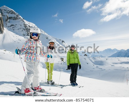 Skiing - ski team portrait