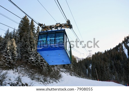 Skilifts in the mountains, Italy