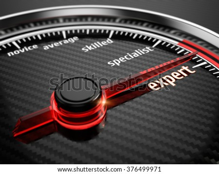 Skill level concept - stock photo