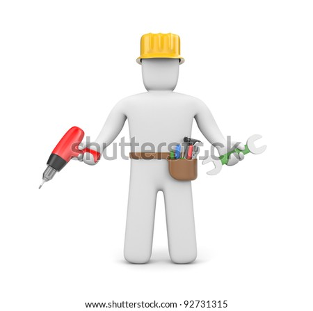 Skilled worker - stock photo