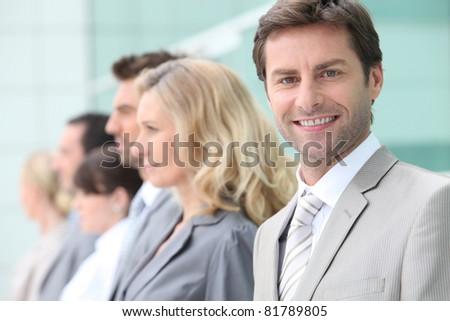 Skillful salesteam - stock photo